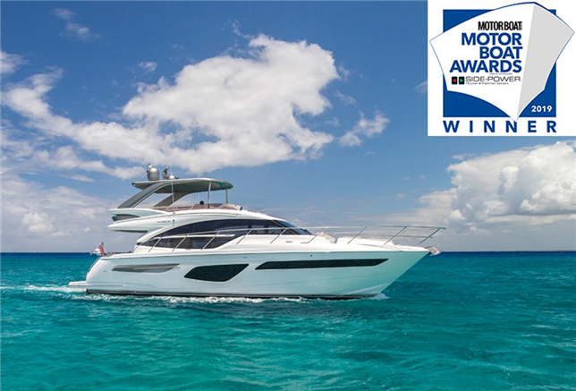 Princess F55 wint 'best Flybridge up to 60 ft.'